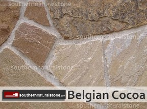 Thin Sawn Veneer Stone, Natural Face, Belgian Cocoa