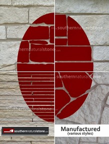 Manufactured cultured stone, Texas