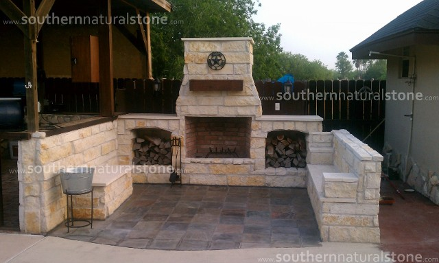 Outdoor Living Stone Ideas Kitchens Fireplaces U0026 Chimney Bbq Pit Tx