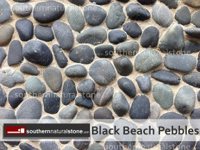 Black Mexican Beach Pebbles, Southern Stone, Texas